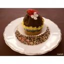 BOURSE CUPCAKE CHOCOLAT / FRAISE